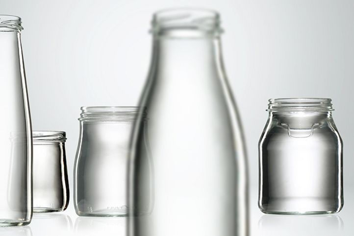 Glass bottles and jars for dairy products